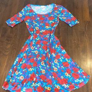 Lularoe floral Nicole dress